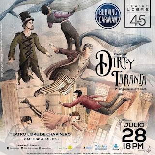 POSTER Concierto de BURNING CARAVAN: DIRTY TARANTA