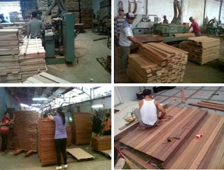 pengolahan lantai kayu parket