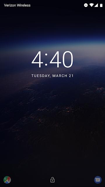 Android O Screens photos