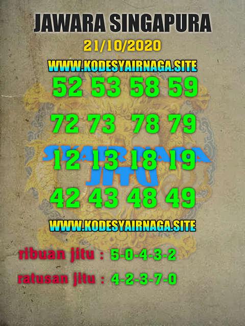 Kode syair Singapore Rabu 21 Oktober 2020 113