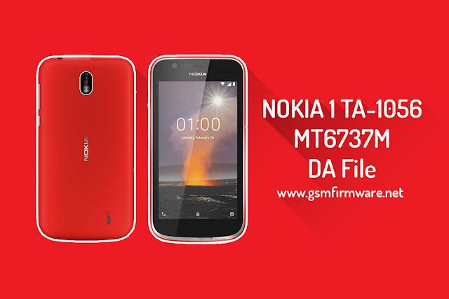 Nokia 1 TA-1056 MTK DA File MT6737M [Download-Agent]
