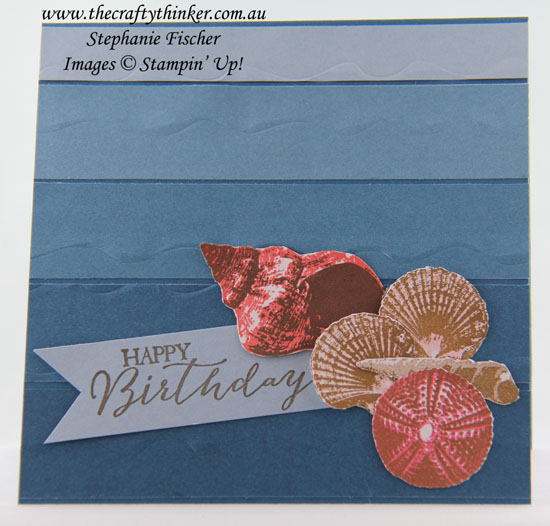 #crazycraftersbloghop, So Many Shells, Color Theory, Masculine card, #thecraftythinker, Stampin' Up Australia Demonstrator, Stephanie Fischer, Sydney NSW