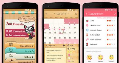 il mio calendario applicazione per controllo del ciclo mestruale