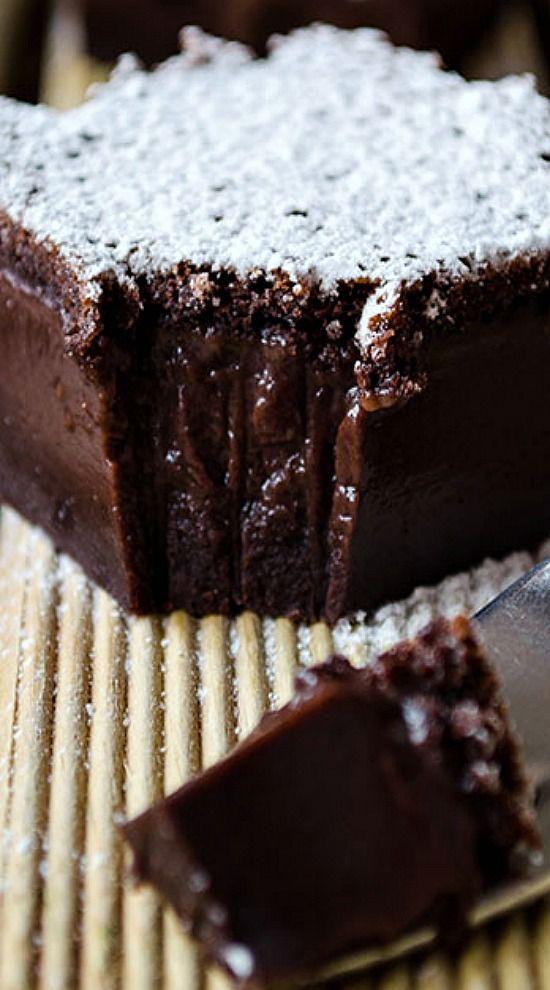 CHOCOLATE MAGIC CUSTARD CAKE #DESSERT #CAKE #CHOCOLATE