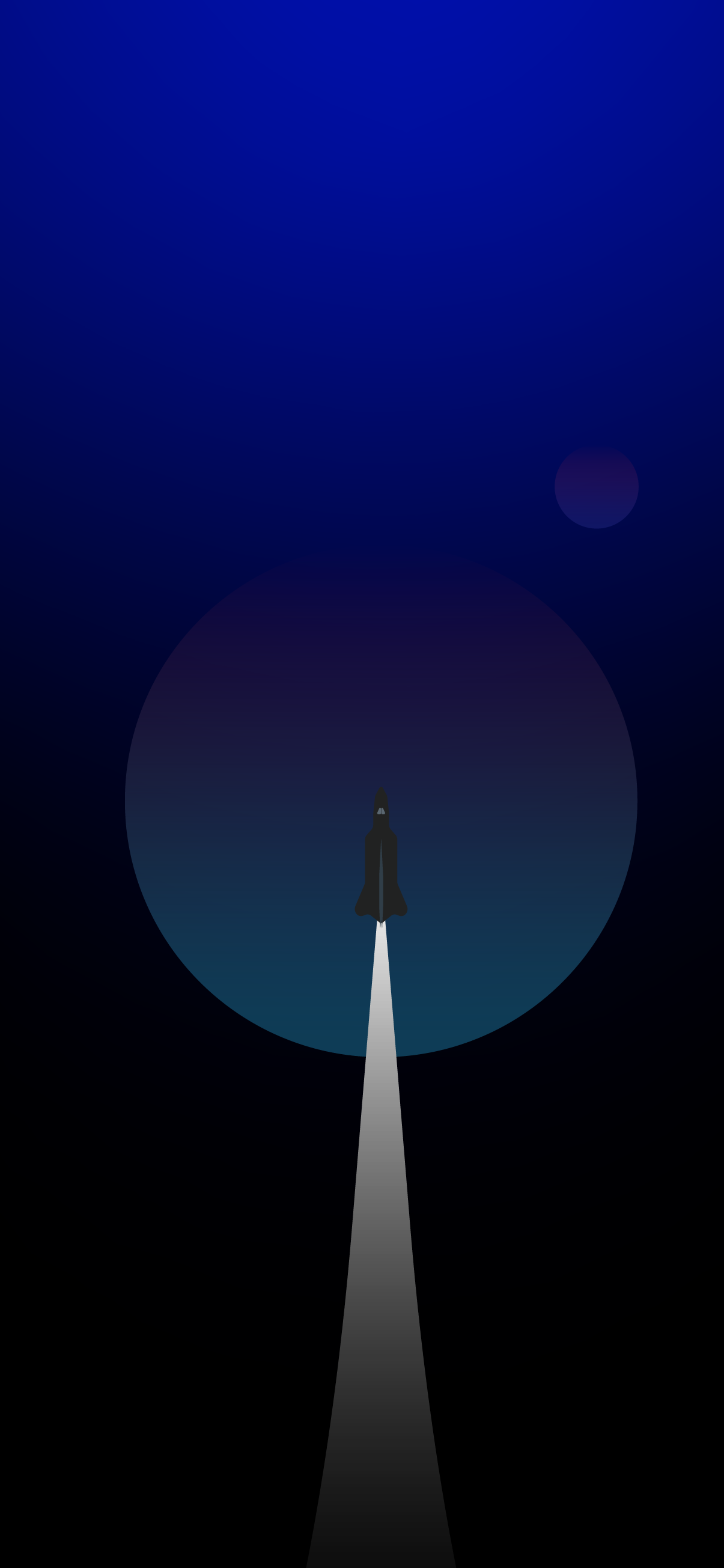 blue minimalistic rocket wallpaper for mobile phone iphone