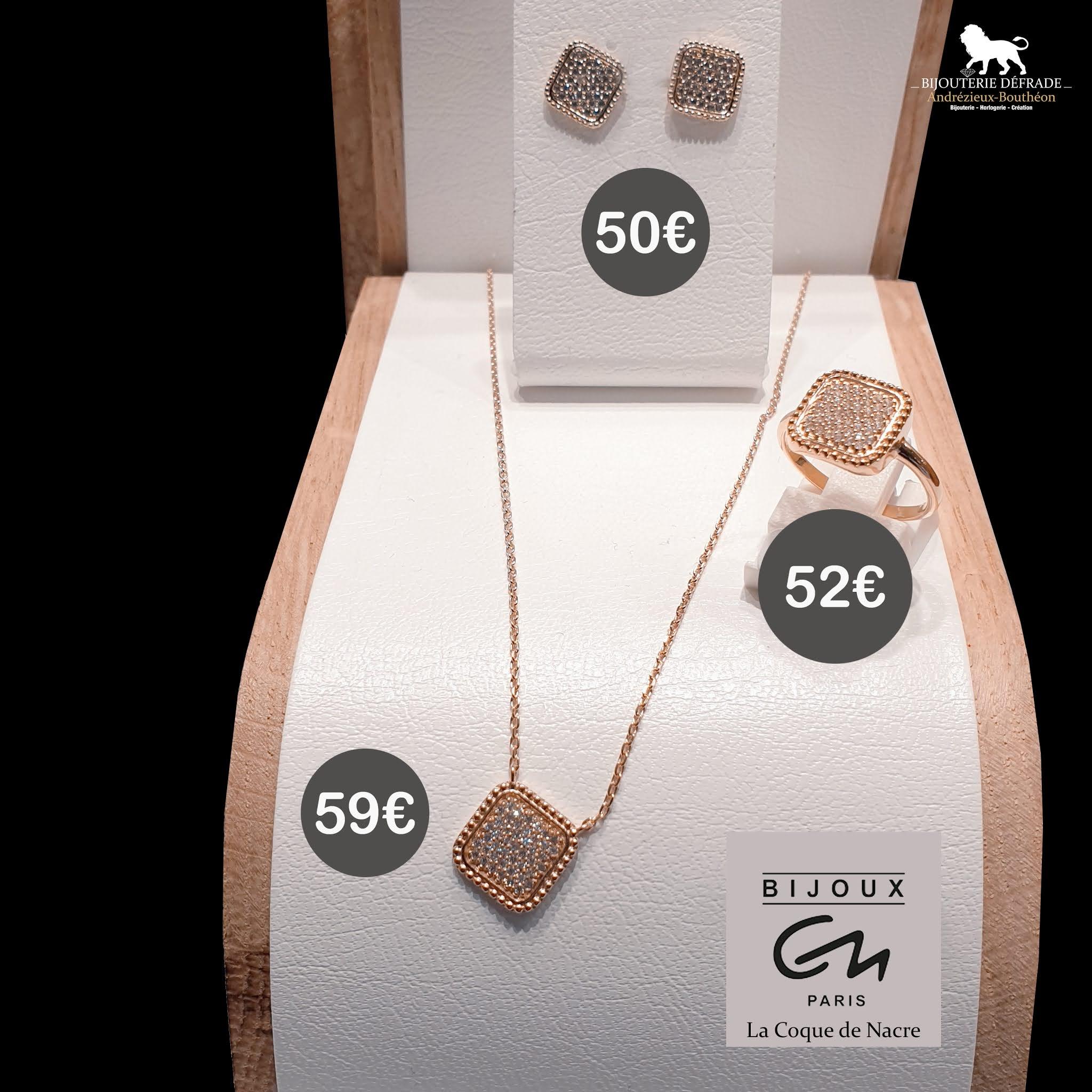 bijoux argent rose coque de nacre bijouterie defrade andrezieux boutheon