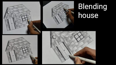 House drawing for kids, how to draw house, step by step tutorial of house drawing, drawing tutorial for kids, easy steps for to draw house, easy steps housedrawing