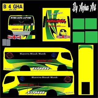 Livery Mod Luragung Jaya Mitsubishi Elf FE71