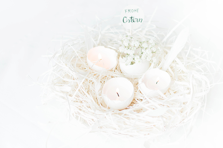 easter decoration egg candle