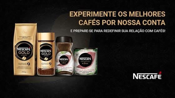 Experimente Grátis Nescafé Gold e Nescafé Origens do Brasil