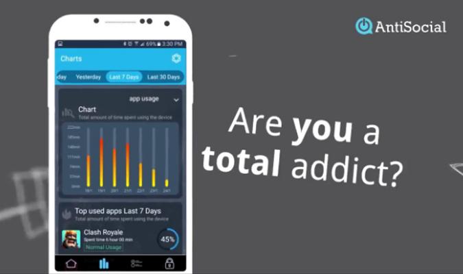 Aplikasi Android tuk Bantu Atasi Kecanduan HP - AntiSocial