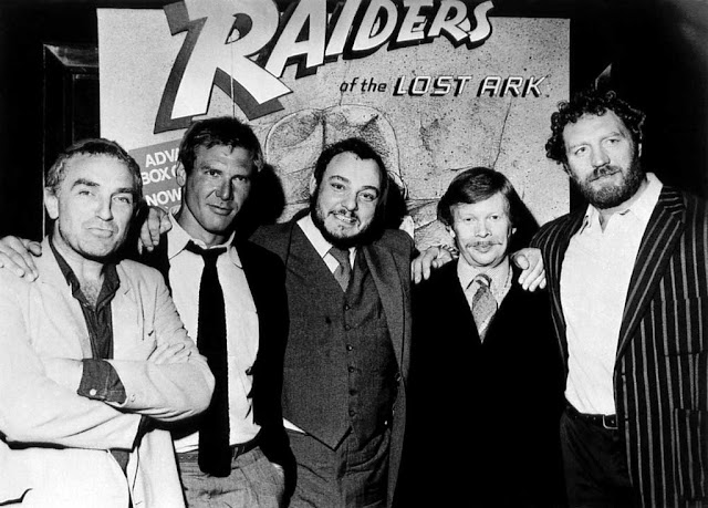 Paul Freeman, Harrison Ford, John Rhys-Davies, Ronald Lacey and Pat Roach at the UK Premiere of Raiders of the Lost Ark