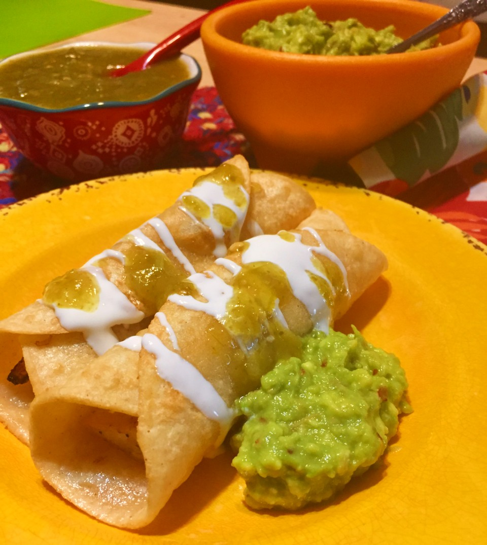 Chicken Flautas, extra-crispy and bursting with savory filling
