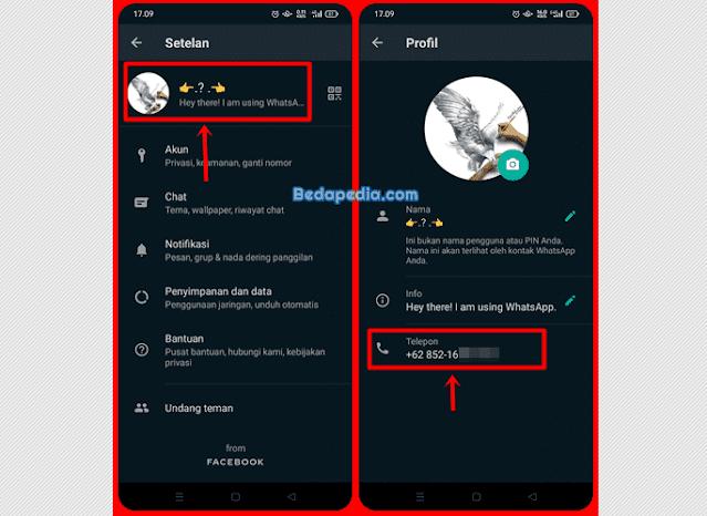 Cara mengecek nomor telkomsel lewat Whatsapp.2
