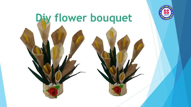 Here is How to make Jute Flower Bouquet for Home decor / Hand made Jute flower show piece /diy -ssartscrafts,jute crafts-jute flower show piece ,jute wall decor ideas,diy room decor,jute crafts for home decoration,How to make Jute Flower Bouquet for Home decor / Hand made Jute flower show piece /diy -ssartscrafts