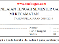 Soal PTS SD/ MI Kelas 5 Tema 2 Semester 1 Th. 2019