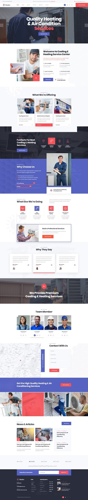 Air Conditioning Repair PSD Template