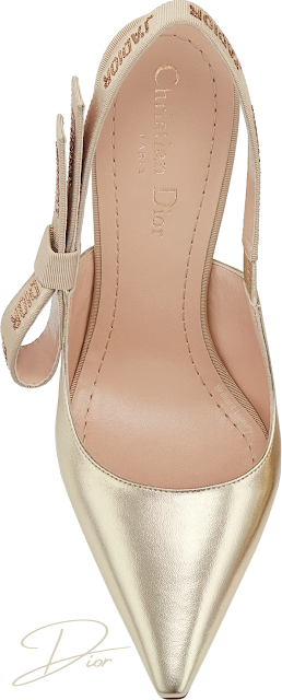 Metallic gold Dior J'Adior lambskin slingback pumps #brilliantluxury