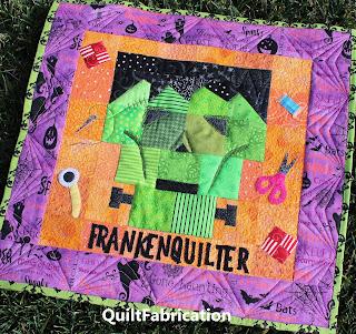 FRANKENQUILTER-QUILT PATTERN-HALLOWEEN QUILT-MONSTER QUILT-FRANKENSTEIN QUILT
