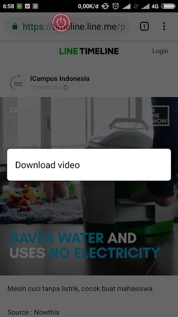 4 Langkah Cara mudah download video di line tanpa aplikasi