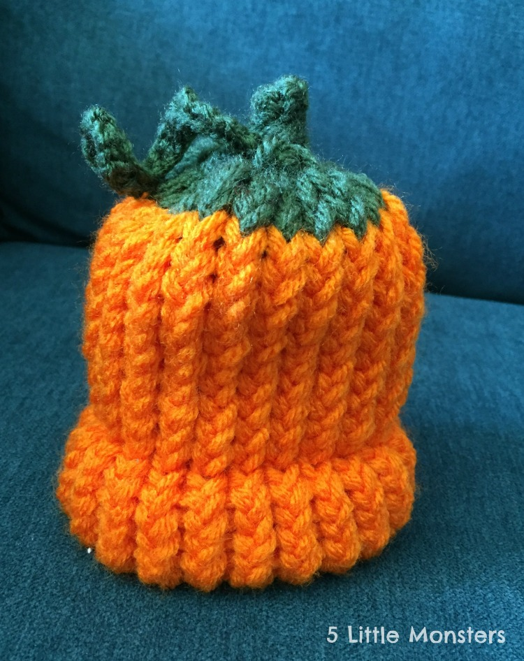 5 Little Monsters Fruit Hats On A Knitting Loom