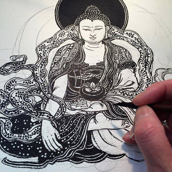 Yuko Shimizu 清水裕子 (Japan/US) - Buddha art