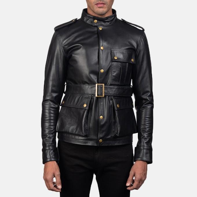 Germain Black Leather Jacket