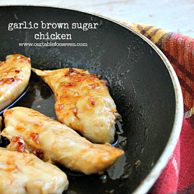 http://www.ourtableforseven.com/2016/10/garlic-brown-sugar-chicken.html