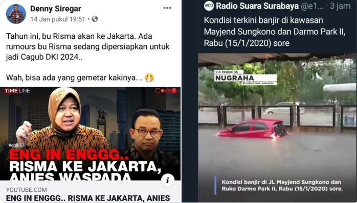 Surabaya Banjir, Gerombolan Haters Anies Langsung Terbungkam