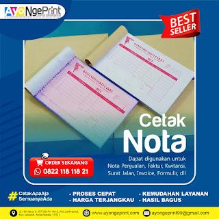Cetak Nota Kwitansi, Surat Jalan, Kupon, Faktur, Formulir, Karcis Murah di Kebon Jeruk, Jakarta Barat