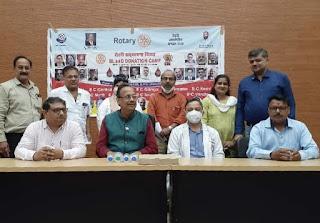 रोटरी सद्द्भावना दिवस पर 102 यूनिट्स हुआ रक्तदान | #NayaSaberaNetwork