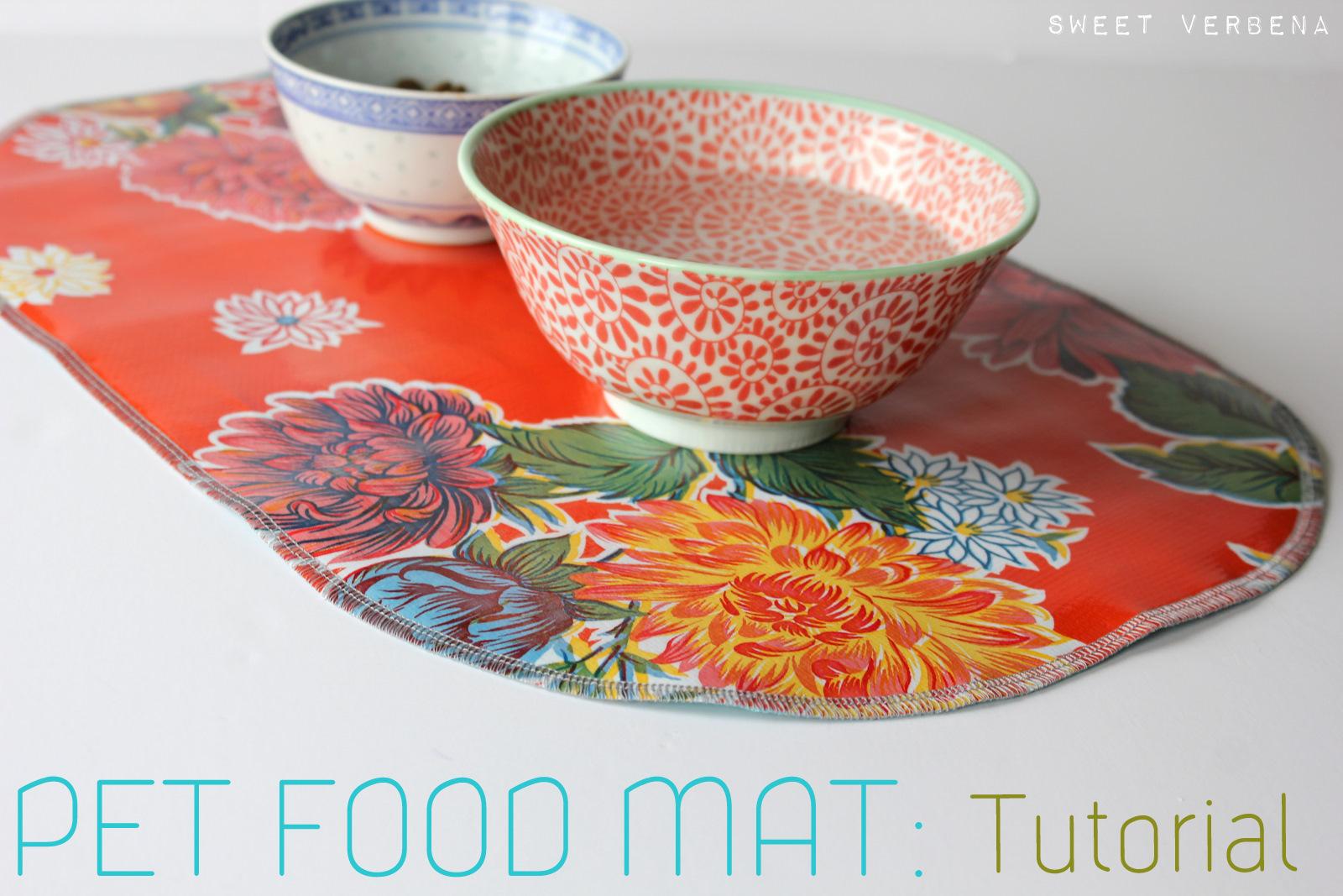 Pet Food Mat A Tutorial Sweet Verbena