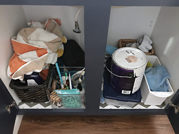 IHeart Organizing Under Bathroom Sink Double Shelving Storage Solution Organization