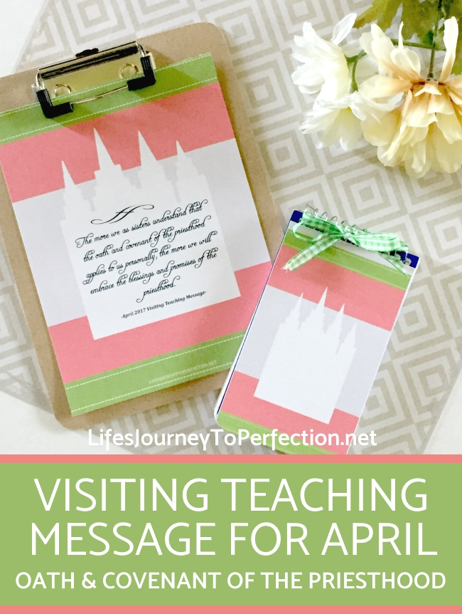 Lifes journey to perfection visiting teaching aprils visiting teaching ideas 2017 negle Choice Image