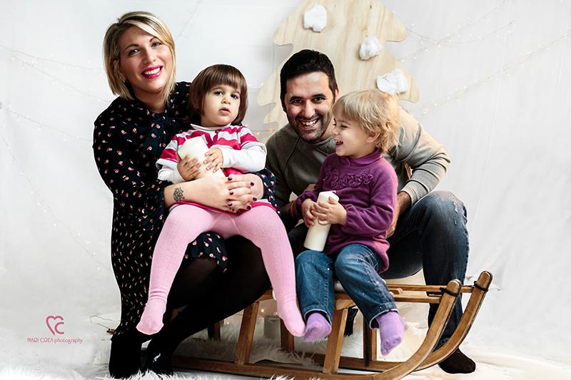 Mini sessione fotografica natalizia di famiglia