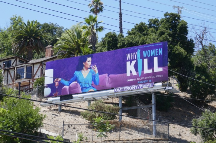 Why Women Kill series launch billboard