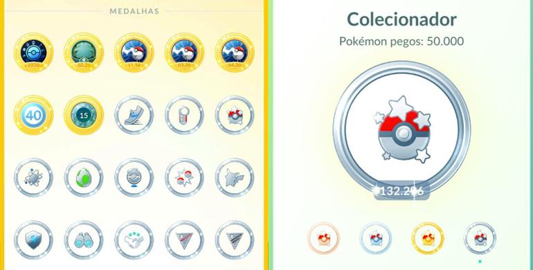 Tela de Colecionador - Pokémon GO