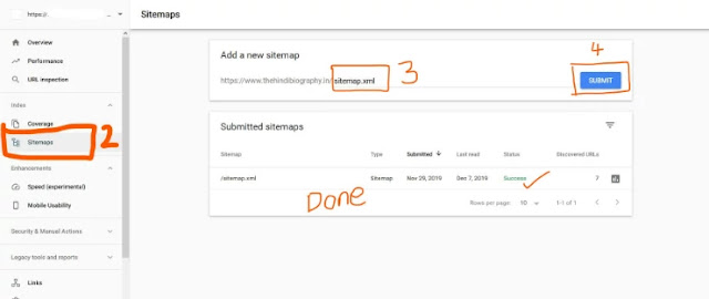 Submit your sitemap in google