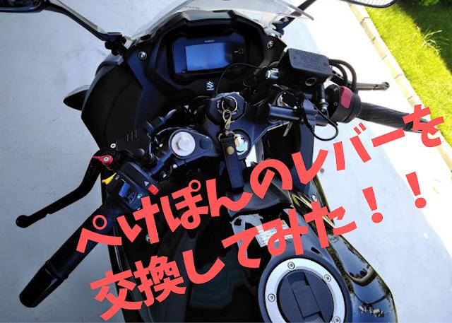 GSX250のクラッチレバーとブレーキレバーを交換した写真