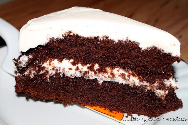 Tarta guinnes de chocolate. Julia y sus recetas