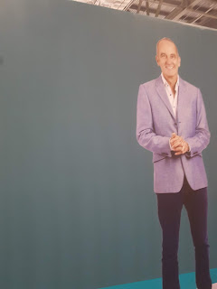 Giant Sticker of Kevin McCloud at Grand Designs Live