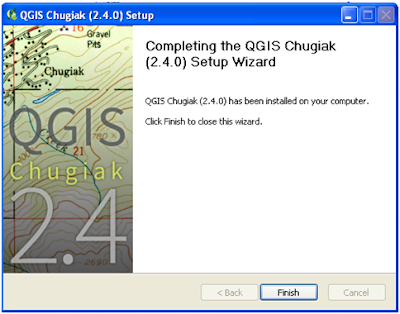 QGIS Installation finish