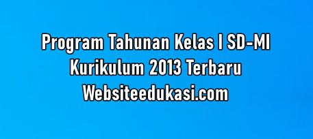 Prota Kelas 1 Sd Mi Kurikulum 2013 Tahun 2020 2021 Websiteedukasi Com