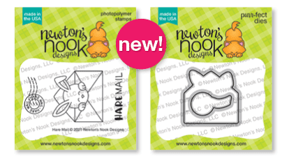 Hare Mail Stamp Set and coordinating die set by Newton's Nook Designs