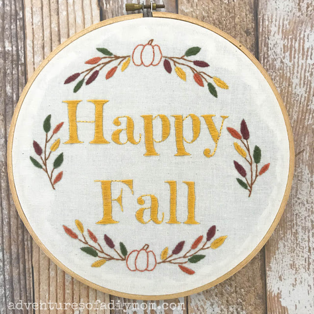 free fall embroidery design