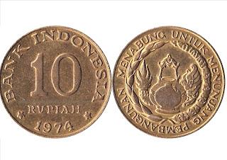 pada saat itu pemerintah Indonesia belum membuat uang sendiri sebagai alat pembayaran yan Uang Koin Atau Keping Logam Yang Pernah Beredar di Negara INDONESIA