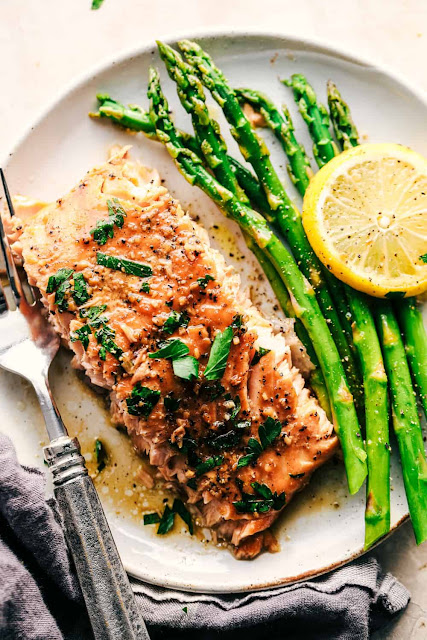 baked brown butter honey salmon