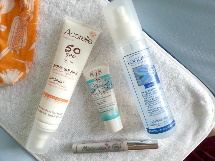test de produits de soin et maquillage bio