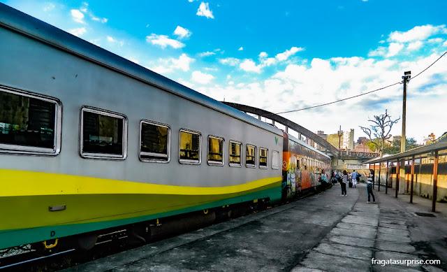 Trem em belo Horizonte para o Santuário do Caraça