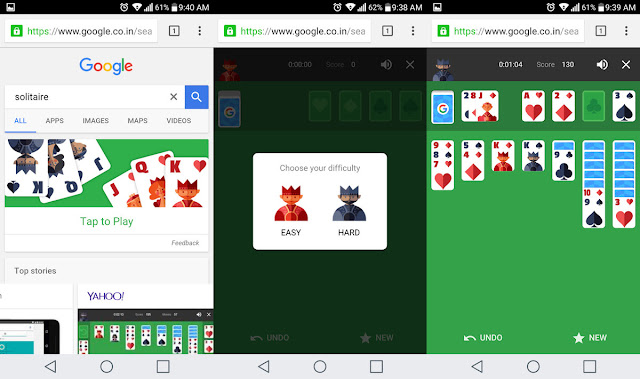 Google Added To Play Solitaire And Tic Tac Toe In Search Results